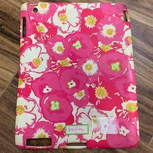 Lilly Pulitzer pink floral iPad cover